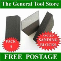 ANGLED FOAM SPONGE SANDING BLOCKS PACK OF 6   IDEAL FOR EDGES, WINDOWS ETC